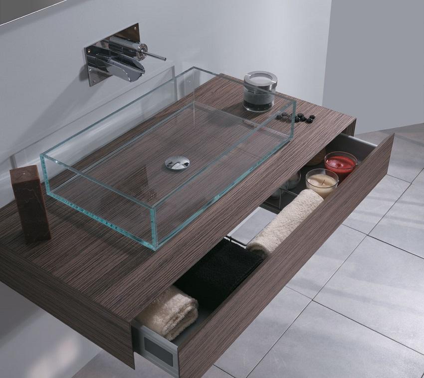 Lavabi in vetro per il bagno moderno - Lavabo bagno marmo prezzi ...